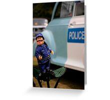 Laughing policeman Greeting Card