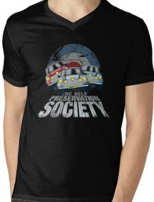 The Self Preservation Society Mens V-Neck T-Shirt