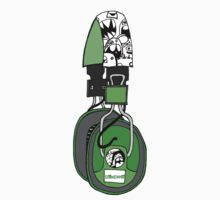 Edzemo Headphones in Green by edzemo