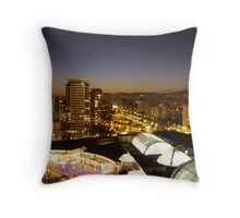 Barcelona Skyline Throw Pillow