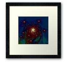 """Starlight Rose Galaxy""  -  Franken Fractals Original Art Print Framed Print"