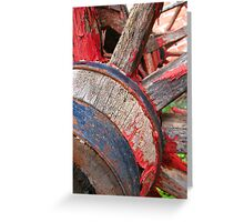 Red wagon dreams Greeting Card