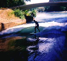 River Surfing Munich  by kevin smith  skystudiohawaii