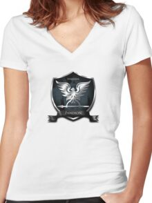 Sparhawk -Pandion Knight. Women's Fitted V-Neck T-Shirt