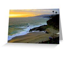 Laguna Beach at sunset Greeting Card