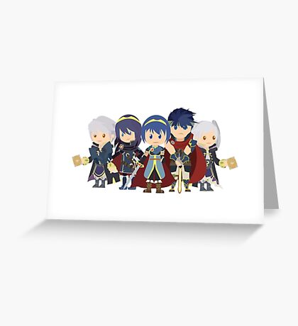 Chibi Fire Emblem Gang Greeting Card
