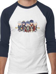 Chibi Fire Emblem Gang Men's Baseball ¾ T-Shirt