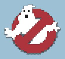 8 bit Ghostbusters logo. One Piece - Short Sleeve