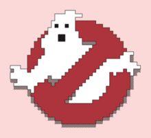 8 bit Ghostbusters logo. One Piece - Long Sleeve