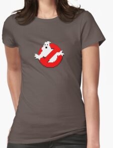 8 bit Ghostbusters logo. Womens Fitted T-Shirt