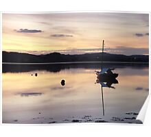 Reflections After Sunset River Exe Poster