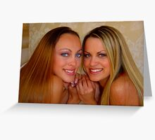 Beautiful sisters Greeting Card