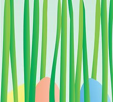 Easter Eggs in the Grass by trennea