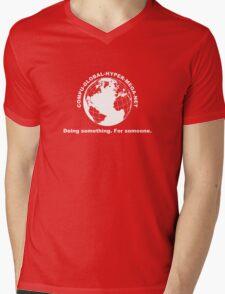 Compu-Global-Hyper-Mega-Net Mens V-Neck T-Shirt