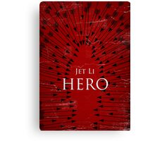 Hero - Red Canvas Print