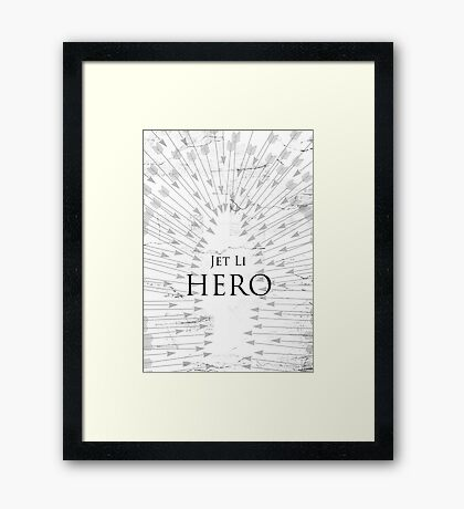 Hero - White Framed Print
