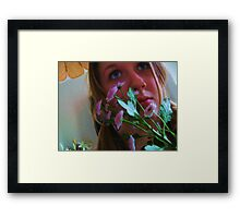 Flowers and Eyes Framed Print