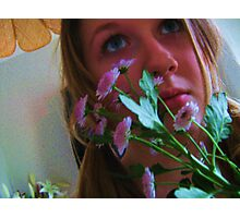 Flowers and Eyes Photographic Print