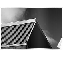 Monochrome Roof Poster