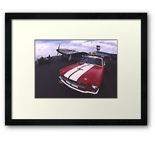 Two Mustangs, Point Cook Airfield, Victoria, Australia Framed Print