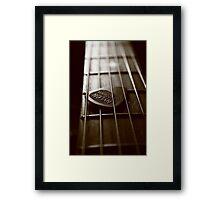 lazy guitar Framed Print