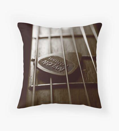 lazy guitar Throw Pillow