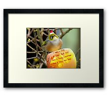 I Make A Wish... - Silver-Eye - NZ Framed Print