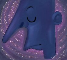 weird nose blue man by chinchillafais