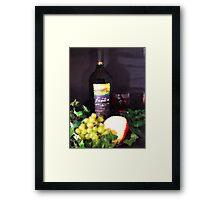 Wine & Cheese Framed Print