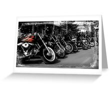 Hell's Bikes Greeting Card