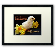Give The Light Of Love To Those Who Need It Most... Framed Print