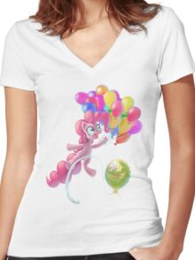 Pinkie Sky Women's Fitted V-Neck T-Shirt