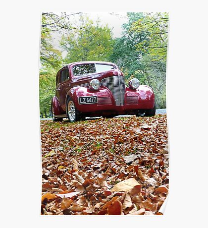 She Stands Out In Autumn Leaves! - Hot Rod Association - NZ Poster