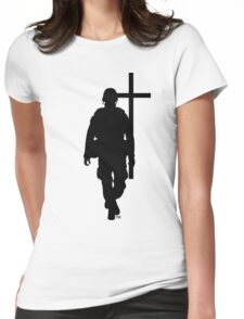 blak soldier Womens Fitted T-Shirt