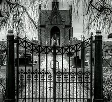 Gate to cemetary by Nicole W.