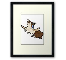Tina belcher unicorn Framed Print