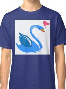 Single cartoon swan in love Classic T-Shirt