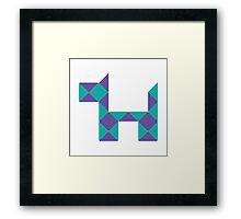 Rubiks Snake Dog Whatever You Could Make Framed Print