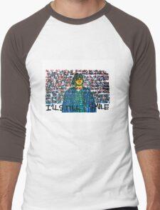 Smile (Eyedea Portrait) Men's Baseball ¾ T-Shirt