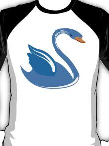 Single cartoon swan T-Shirt