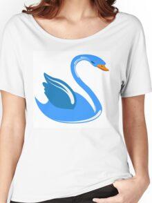 Single cartoon swan Women's Relaxed Fit T-Shirt