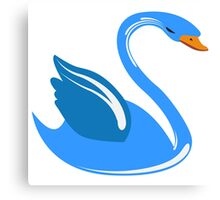 Single cartoon swan Canvas Print