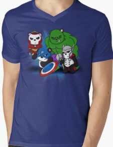 The PandAvengers Mens V-Neck T-Shirt