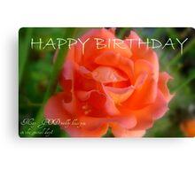 Happy Birthday - Rose Bloom - NZ Canvas Print