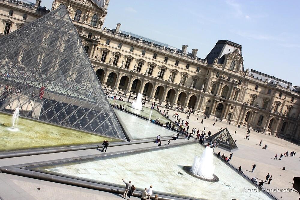 Outside the Lourve, Paris, France by Neroli Henderson