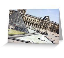Outside the Lourve, Paris, France Greeting Card