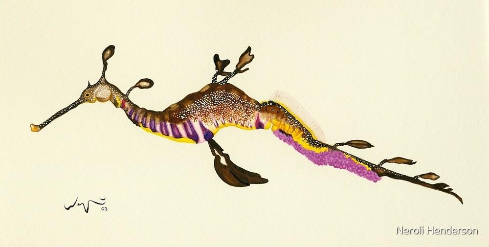 Weedy Sea Dragon Watercolour by Neroli Henderson