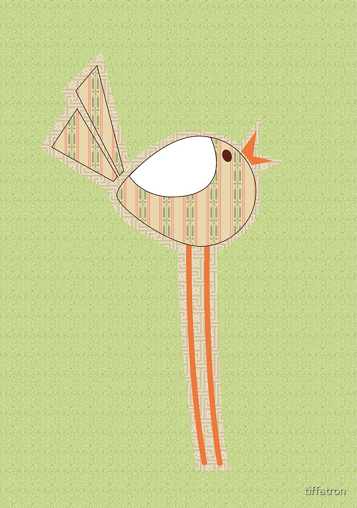 Delilah the fabric swatch bird by tiffatron