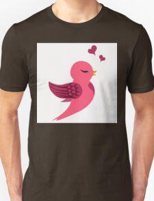 Single cartoon bird in love Unisex T-Shirt