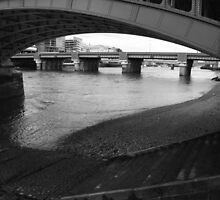 Alexandra Rail bridge River Thames by joelmeadows1
